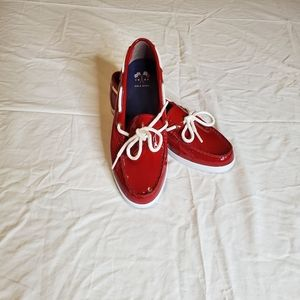 Cole Haan Red Boat Shoes sz 7.5